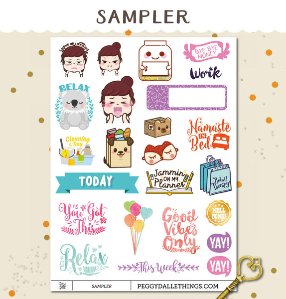 Sampler Planner Stickers