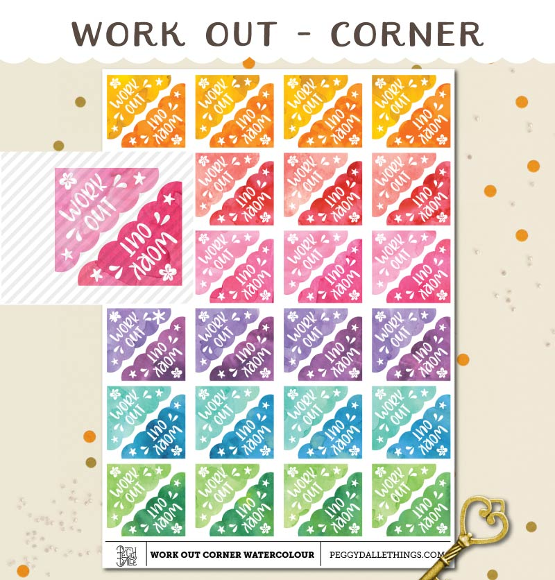 Corner Work Out Planner Stickers
