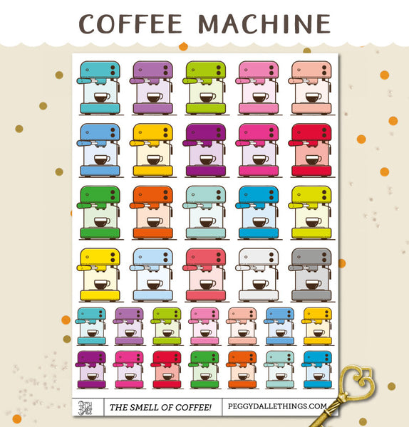 Coffee Machine Planner Stickers