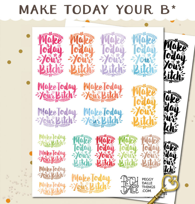 Make Today Your Bitch Planner Stickers