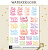 Motivational Quotes Watercolour Planner Stickers