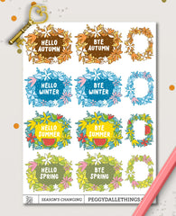 Seasons Greetings Planner Stickers