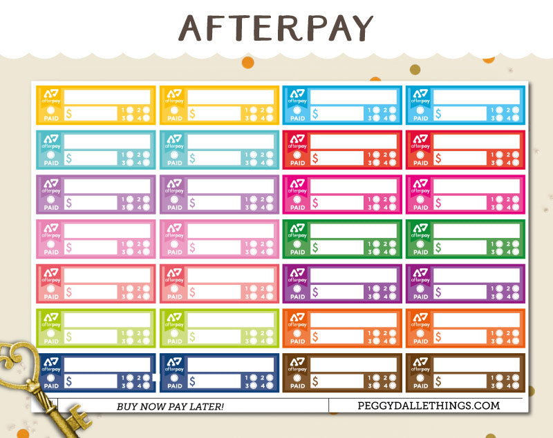 Afterpay Payment Planner Stickers