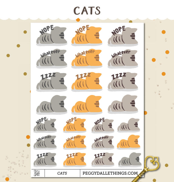 Cats Nope Planner Stickers