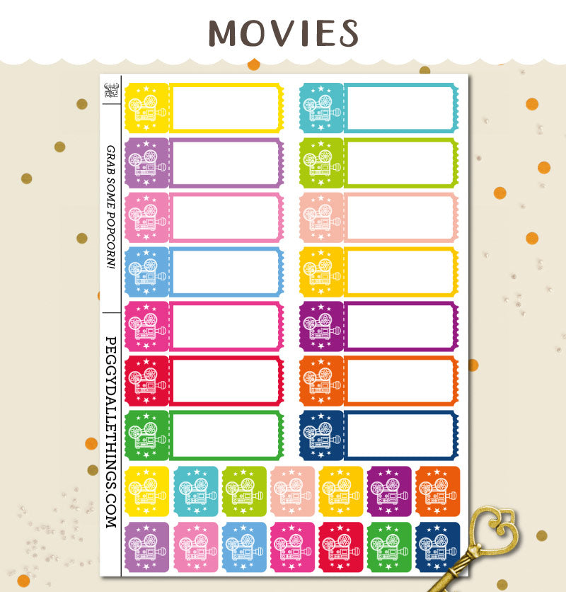 Film Cinema Planner Stickers