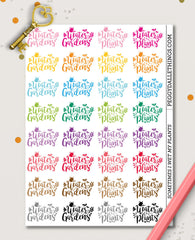 Water Plants Planner Stickers