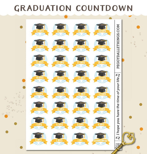 Graduation Countdown Planner Stickers