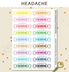 Sick/Headache Planner Stickers