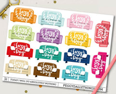 Lazy Day Couch Planner Stickers