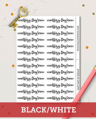 Lazy Day Header Planner Stickers