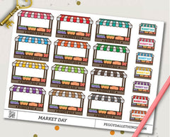 Market Day Half Boxes Planner Stickers