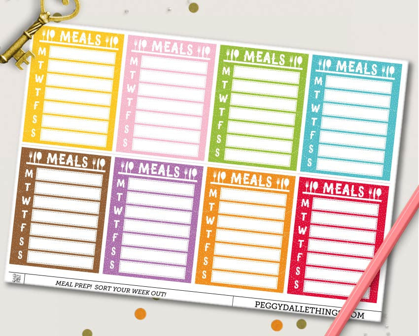 Weekly Meal Prep Planner Stickers