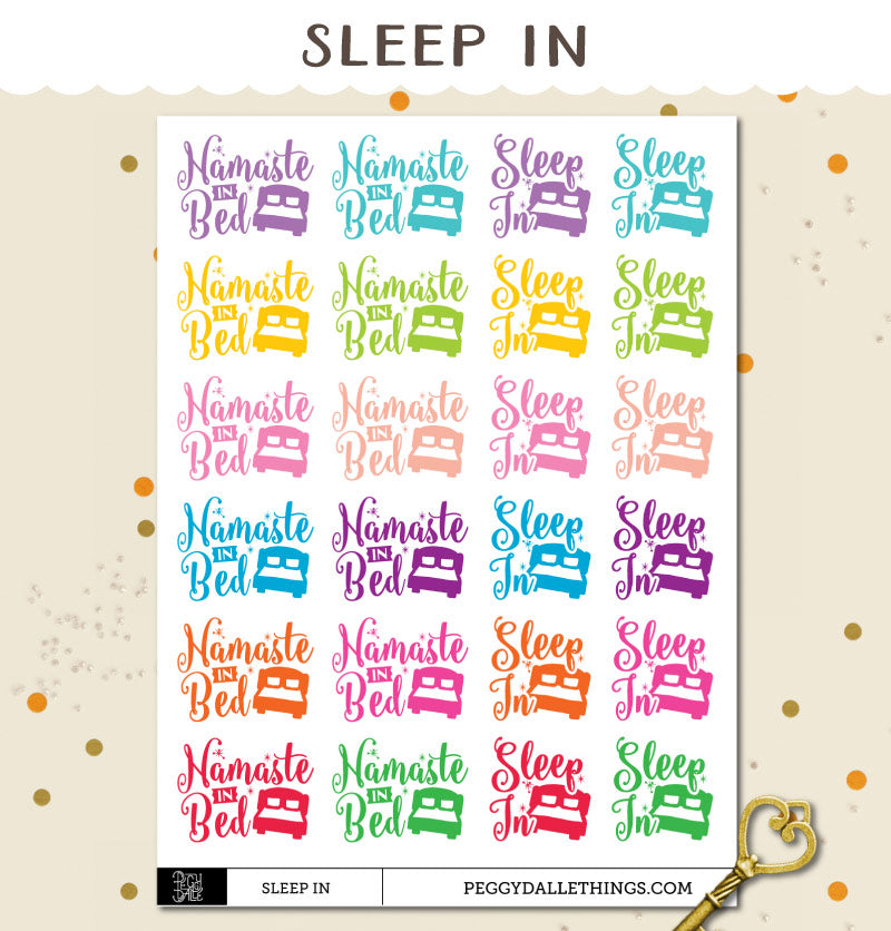 Sleep In Planner Stickers