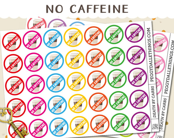 No Coffee Planner Stickers