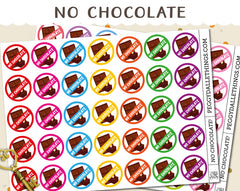 No Chocolate Planner Stickers