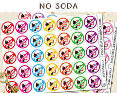 No Soda Planner Stickers