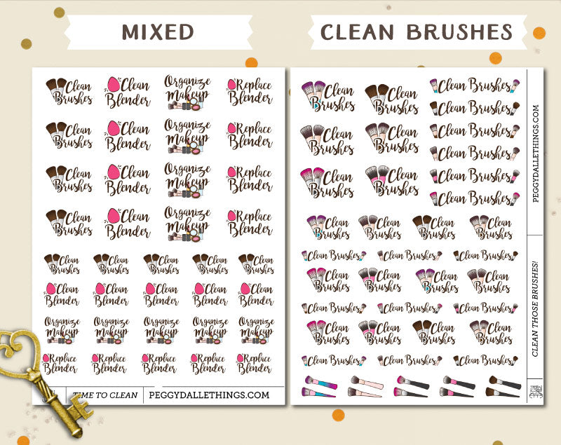 Clean Makeup Planner Stickers | Organise makeup planner stickers
