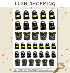 Lush Shopping Planner Stickers