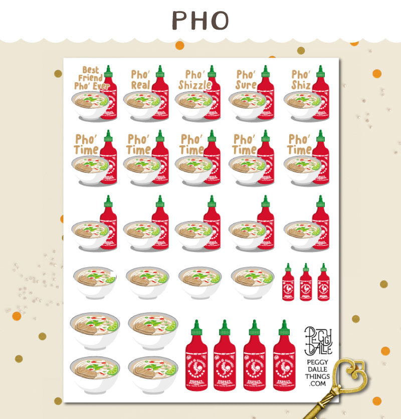 Pho Planner Stickers