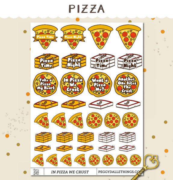 Funny Pizza Planner Stickers