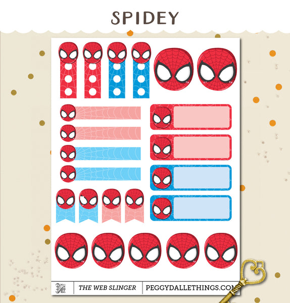 The Web Slinger Planner Stickers