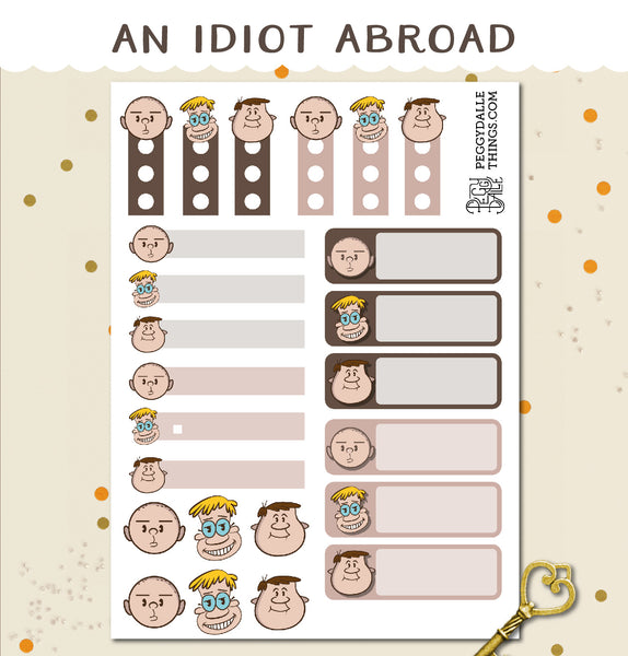 An Idiot Abroad Planner Stickers