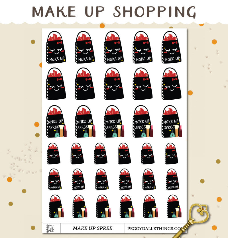 Make Up Shopping Spree Planner Stickers