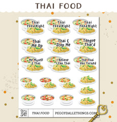 Thai Food Planner Stickers