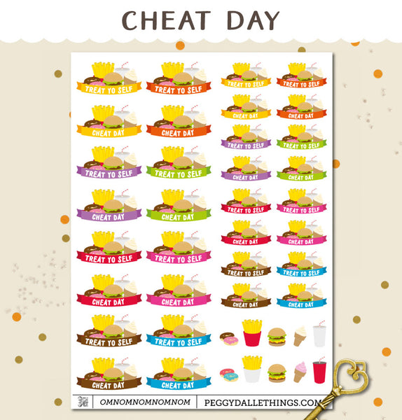 Cheat Day Planner Stickers
