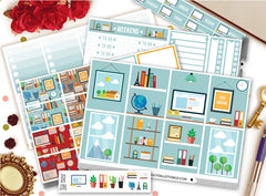 Office Boss ECLP Vertical Weekly Kit Planner Stickers