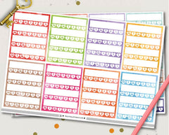 Habit Tracker Planner Stickers | ECLP Vertical Compatible