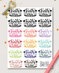 Watercolour Family Time Planner Stickers