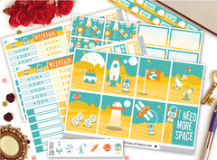 I Need Space Vertical Weekly Kit Planner Stickers