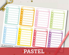 Weekly Ribbon Habit Tracker Planner Stickers | ECLP Vertical & Happy Planner Compatible