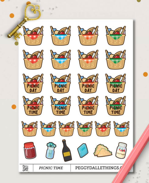 Picnic Planner Stickers