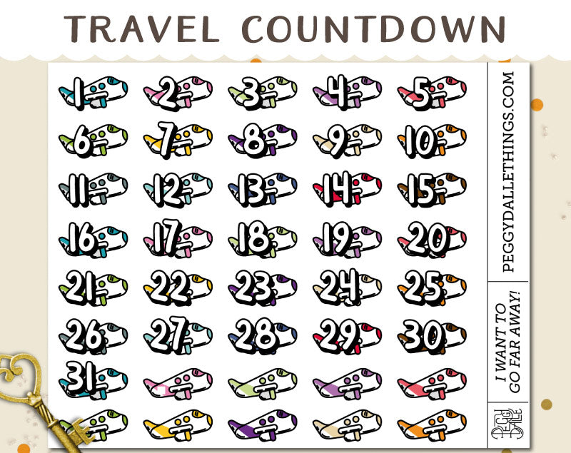 Flight Countdown Planner Stickers