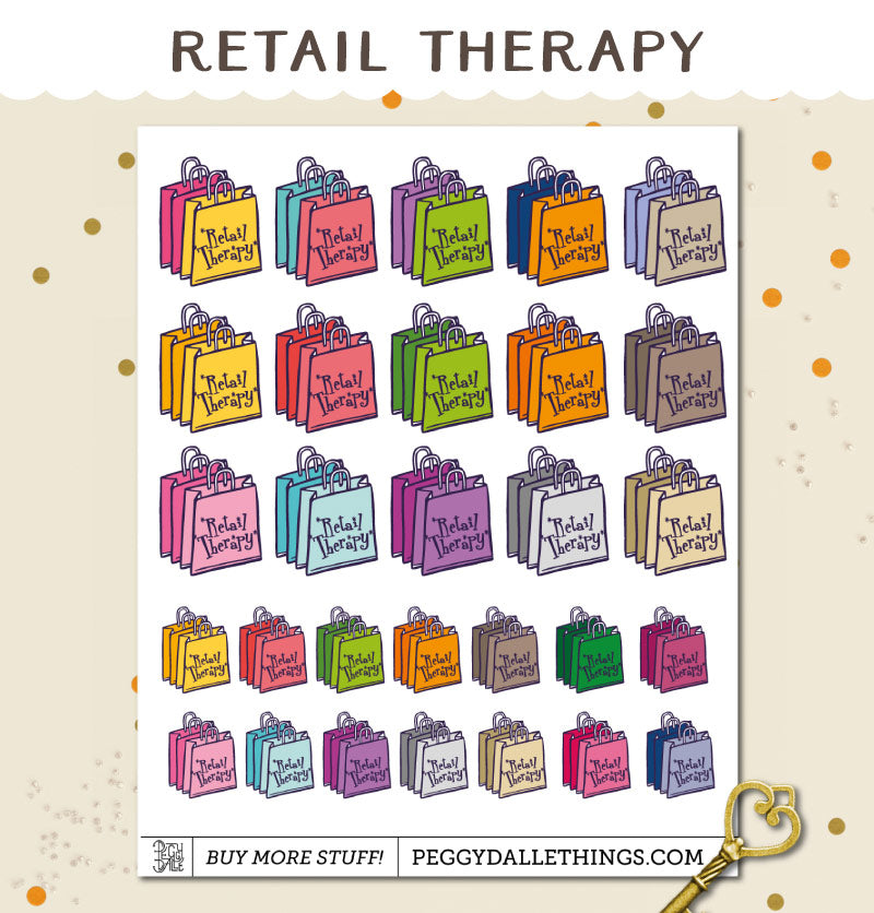 Retail Therapy Planner Stickers | Etsy Order