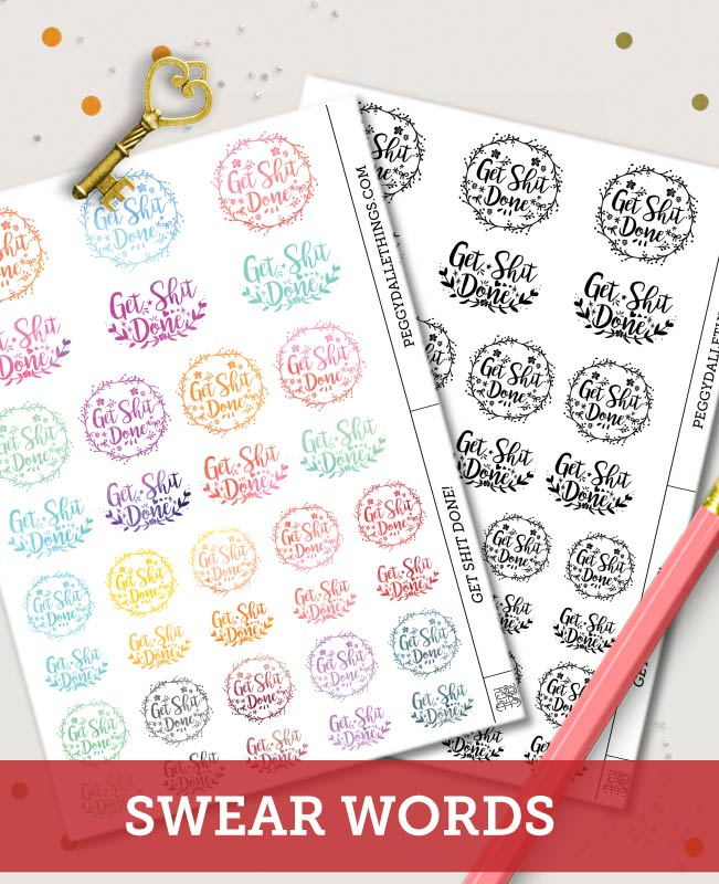 Get Stuff Done Watercolour Planner Stickers | Get Shit Done Watercolour Planner Stickers