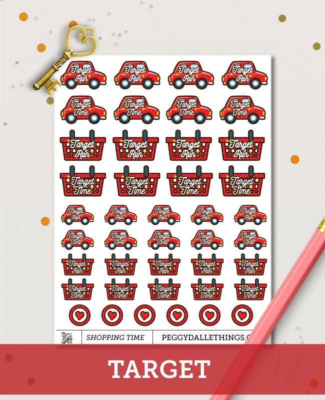 Various Shopping Run Planner Stickers