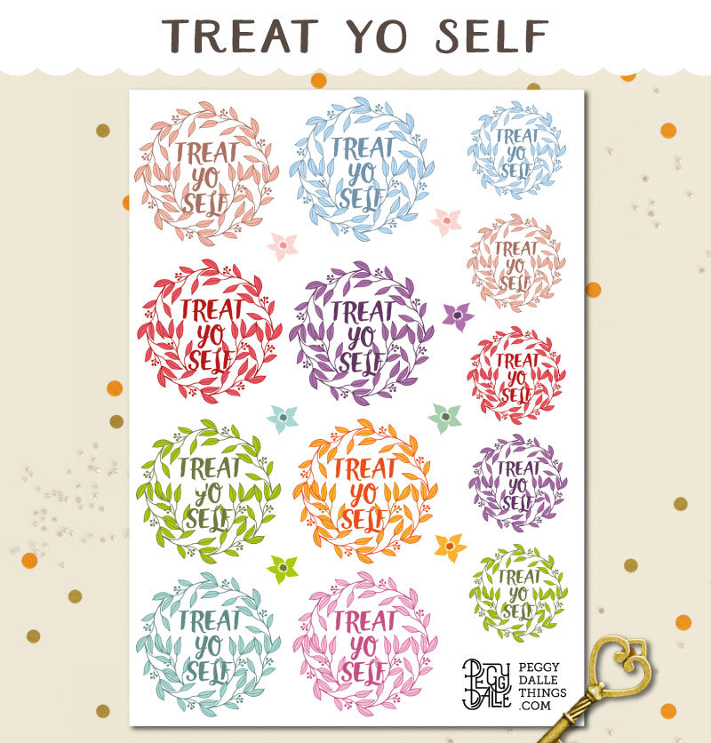 Treat Yo Self Planner Stickers