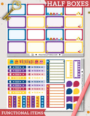 Pacman ECLP Vertical Weekly Kit Planner Stickers
