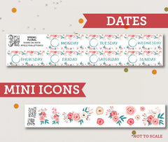 Spring Floral ECLP Vertical Weekly Kit Planner Stickers