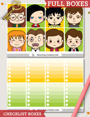Daria ECLP Vertical Weekly Kit Planner Stickers