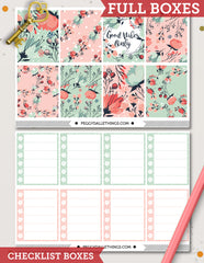 So Floral ECLP Vertical Weekly Kit Planner Stickers