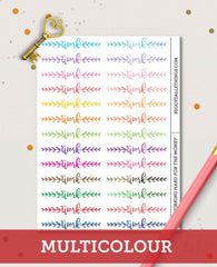 Work Header Planner Stickers | Work Half Boxes Planner stickers
