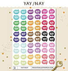 YAY NAY Mini Speech Bubbles Planner Stickers