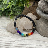 The Essential Oil Chakra Bracelet with Hamsa & Evil Eye