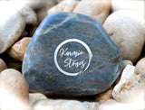 Find Your Tribe Love Them Hard ~ Engraved Inspirational Rock