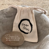 Passion, She Has Fire In Her Heart And Grace In Her Soul ~ Engraved Inspirational Rock
