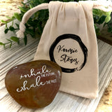 Inhale The Future Exhale The Past ~ Engraved Inspirational Rock
